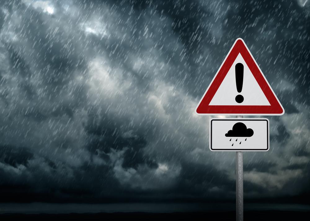 Starker Regen Überschwemmung